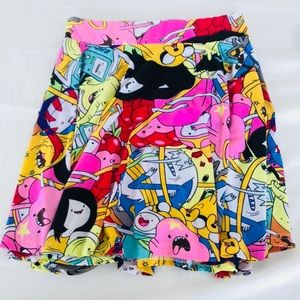 Adventure Time Skater Skirt Cute Lolita Pink Small